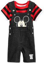 Nannette 2-Pc. T-Shirt and Mickey Mouse Overall Set, Baby Boys (0-24 months)