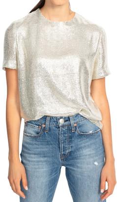 Rag & Bone Gia Sequined Short-Sleeve Top