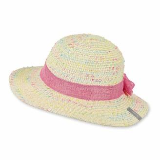 Sterntaler Girls Ribbon-and-Bow Straw Hat Age: 12-18 Months Size: 49 cm Sandy Beige