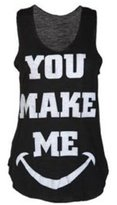 VIP Womens You Make Me Smile Vest Top (M8)