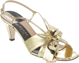 Gucci Bow Leather Sandal