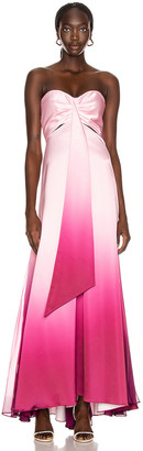 Jonathan Simkhai Ombre Cutout Bustier Gown in Magenta Ombre | FWRD
