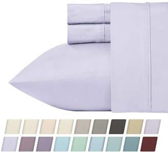 California Design Den 700 Thread Count Cvc 4-Piece Rich Sateen Sheet Set, King Bedding