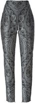 Balmain straight fit paisley trousers - women - Polyester - 40