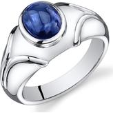 Ice 3 1/2 CT TW Lab-Created Blue Sapphire Sterling Silver Fashion Ring