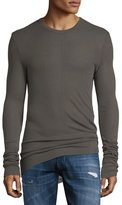 Hudson Long-Sleeve Ribbed Crewneck Shirt