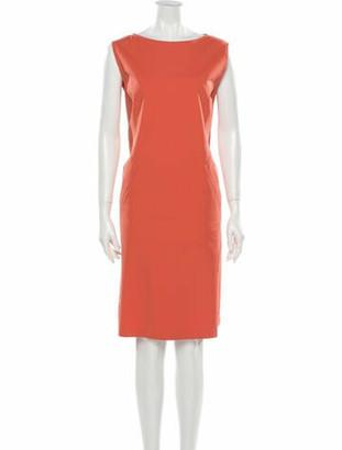 Lafayette 148 Bateau Neckline Knee-Length Dress w/ Tags Pink