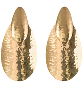 Josie Natori Hammered Gold Oval Earrings
