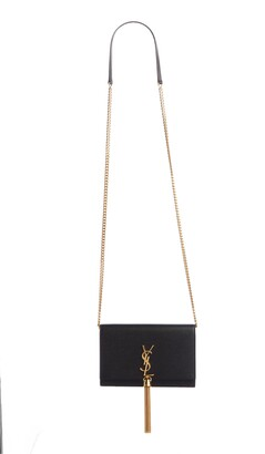 Saint Laurent Kate Tassel Leather Wallet on a Chain