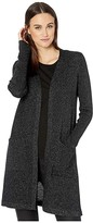 Eileen Fisher Straight Long Cardigan (Black) Women's Clothing