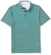 Bobby Jones XH20 Matzah Tech Striped Short-Sleeve Polo Shirt