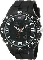 U.S. Polo Assn. Sport Men's US9174 Silicone Analog Digital Watch