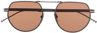 Thom Browne TBS918 aviator sunglasses