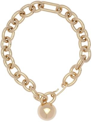 Jil Sander Chunky Chain & Sphere Necklace