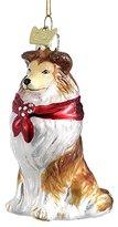 """Kurt Adler 3.5"""" Noble Gems Glass Shetland Sheepdog Ornament"""