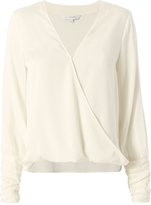Exclusive for Intermix Gianna Cross Front Top White P
