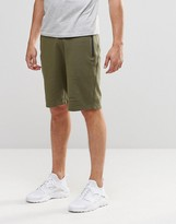 Asos Slim Fit Jersey Shorts With Zips In Khaki
