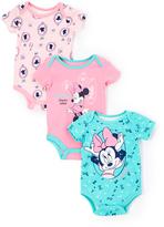 Children's Apparel Network Pink & Aqua Minnie Mouse Bodysuit Set - Infant