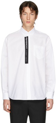 Givenchy White Poplin Logo Tape Shirt
