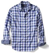 Banana Republic Grant-Fit Custom Wash Checkered Shirt