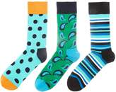 Happy Socks 3 Pack Hs Multi Pattern Socks
