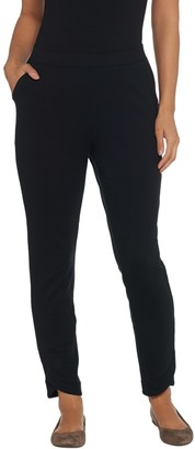 Denim & Co. Active French Terry Ankle Pants with Tulip Hem