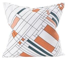 Frank Lloyd Wright Oak Park Cotton Throw Pillow