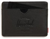 Herschel Men's Charlie Leather Card Case - Black