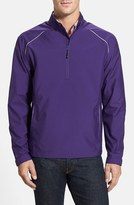 Cutter & Buck Men's Big & Tall 'Weathertec Beacon' Water Resistant Half Zip Jacket