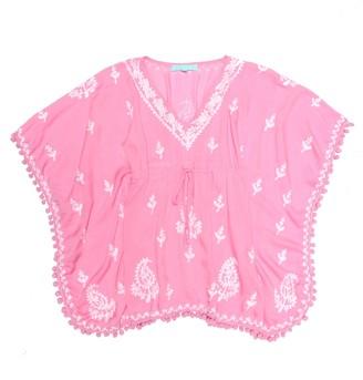 Melissa Odabash Kids Baby Sharize floral-embroidered cover-up