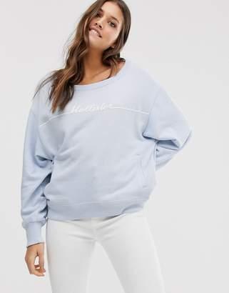 Hollister logo sweatshirt in light blue