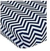 Garanimals Chevron Print Crib Sheet, Denim 073654350982