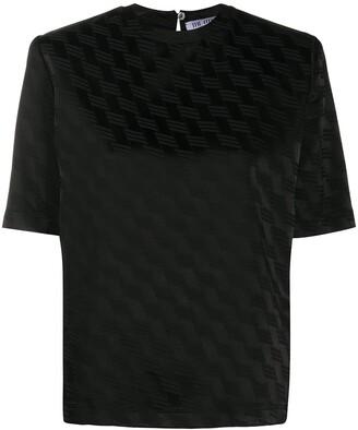 ATTICO Jacquard Satin-Finish T-Shirt
