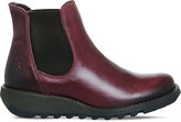 Fly London Salv leather wedge boots