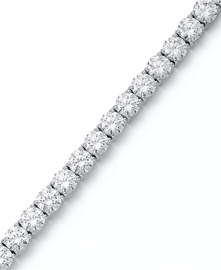 Arabella Sterling Silver Bracelet, Swarovski Zirconia Tennis Bracelet (31 ct. t.w.)