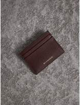 Burberry House Check and Grainy Leather Card Case, Purple