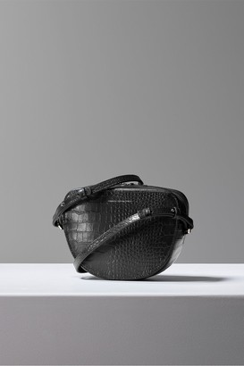 French Connection Tallin Recycled Leather Croc Crossbody Bag