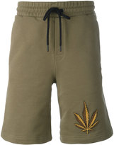Palm Angels weed emblem shorts