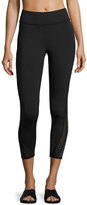 Michi Apex Mesh-Panel Crop Performance Legging, Black