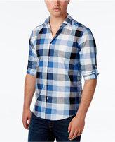 Alfani Men's Big and Tall Long Sleeve Plaid Shirt, Only at Macy's