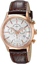 Zeno Men's 6662-5030PGR-F2 Gentlemen Analog Display Quartz Brown Watch