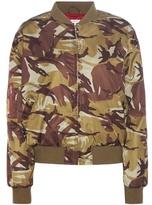 Ganni Greenwood Camouflage Printed Bomber Jacket