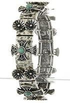Karmas Canvas Decorated Cross Link Bracelet