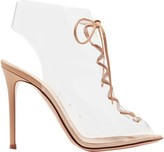 Gianvito Rossi Helmut Plexi 100 Lace-up Pvc And Leather Ankle Boots