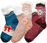 Angelina Winter-Weight Sherpa-lined Knitted Thermal Crew Socks, _Q_3_9-11