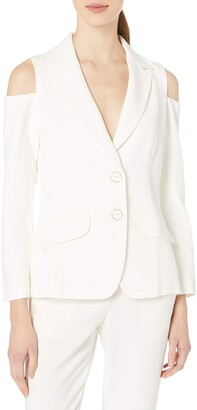 Trina Turk Women's Minas Luxe Drape Cold Shoulder Jacket