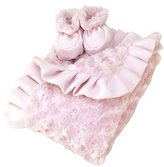 Trend Lab Luxe Blanket and Booties Gift Set Color: Pink