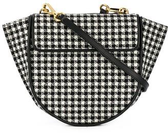 Wandler Hortensia houndstooth-pattern crossbody bag