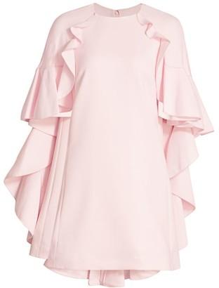 Giambattista Valli Ruffle Cape Dress