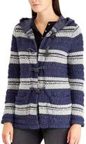 Chaps Women's Hooded Jacquard Cardigan